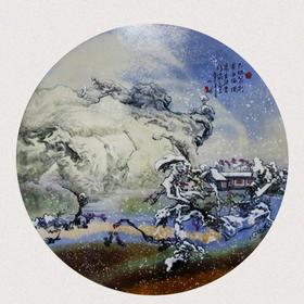 大地艺术高温色釉瓷板画