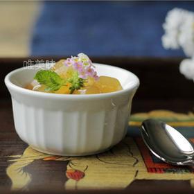 外贸 高硬度炻瓷 带棱布丁碗 焦糖布蕾碗 舒芙蕾碗 甜品碗 冰激凌碗 果冻碗 满包邮