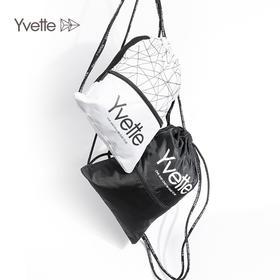 【小身材大容量】Yvette薏凡特抽绳动感潮流印花拼接设计底部防水大容量运动背包SA0150009
