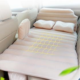 沿途  舒适透气气垫床 加厚充气床植绒家用加大单人充气床垫 户外便携床汽车用品