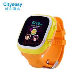 儿童定位电话手表插卡通话GPS定位手机小孩学生失手环多点触屏男孩女孩 橙色 1.22