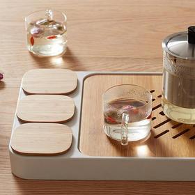 创意小茶盘竹功夫茶具套装 储水式 茶台茶托 日式礼品 办公茶盘