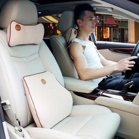 【雄冠】亚麻布记忆棉电话枕小至尊腰靠汽车用品