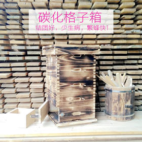 [格子箱碳化版]中蜂格子箱 土养格子蜂箱 厚碳化包邮
