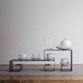 永利汇 羊脂玉陶瓷描金功夫茶具套装影青瓷整套壶组家用 送礼盒装