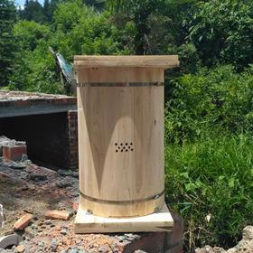 中蜂土养圆桶箱 传统圆木桶蜂箱 诱蜂桶