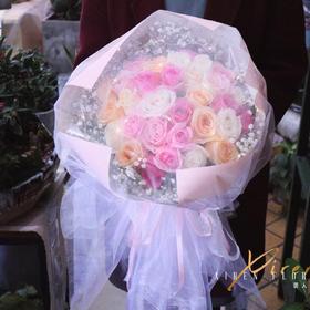 33朵韩式混搭婚纱玫瑰