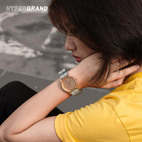 HyperGrand新加坡时尚情侣石英腕表尼龙表带玫瑰金 NWH2FULT 38mm