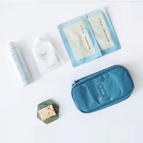 【花沐里】旅行套装|喷雾面膜手工皂洁面巾收纳包|天然茉莉蒸馏而成|旅途中也要细心护肤
