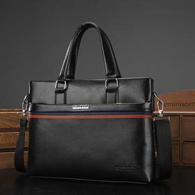 【寒冰紫雨】  商务男包手提包男士包包公文包横款单肩斜挎包休闲皮包电脑包背包   AAA5672