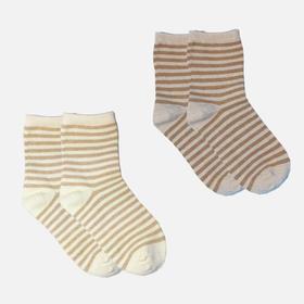 小亘天然彩棉条纹童袜4双装  透气吸汗无异味