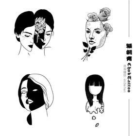 「现代插画纹身· 一口价」可任选,烟盒大小