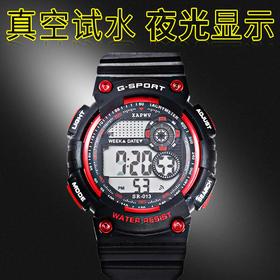多功能防水运动手表  时尚新款正品七彩机芯电子表