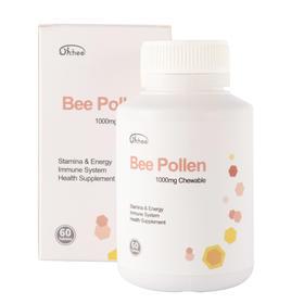 【积分商城】 Oichee蜂花粉咀嚼片bee pollen 1000mg chewable澳洲小众60片/瓶{海淘商品无中文标签,介意勿拍}