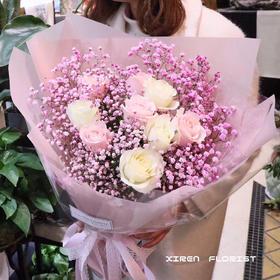 满天星玫瑰花束