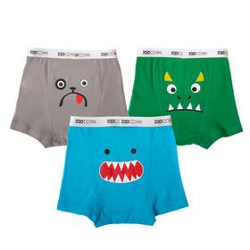 ZOOCCHiNi 有机棉男童平角裤 3条装