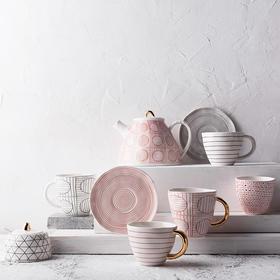 奇居良品 陶瓷茶具家用水壶泡茶壶咖啡壶糖盅奶壶 海蒂