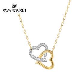 施华洛世奇Swarovski双心扣项链人造水晶1062708