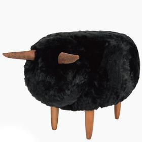 黑咩坐墩 原创小家具 羊动物 宝宝沙发凳 儿童换鞋脚凳