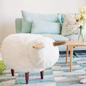 白咩坐墩 原创小家具 沙发凳 宝宝儿童 羊动物换鞋脚凳