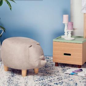 犀牛坐墩 原创可爱沙发凳 宝宝儿童 动物脚凳换穿鞋凳