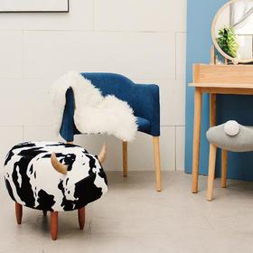 奶牛坐墩 小家具 原创动物沙发凳 宝宝儿童换穿鞋脚凳