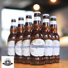 日期新!比利时进口福佳白Hoegaarden福佳精酿啤酒330ml*6瓶装