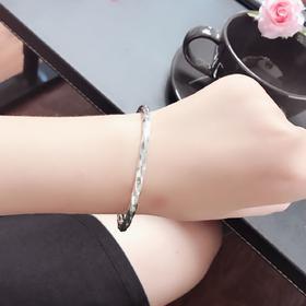 999纯银手镯女韩版网红手镯冷淡风手镯手环镯子简约学生百搭清新