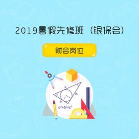 2019暑假先修班 (银保会)财会岗位