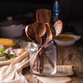 日式和风木质餐具 柚木捞勺饭勺油勺木铲薄铲汤勺 多款