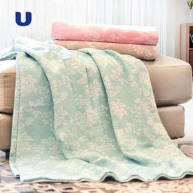 半岛优品   夏季纯棉提花双层纱空调毯/毛巾被 轻薄透气不掉毛