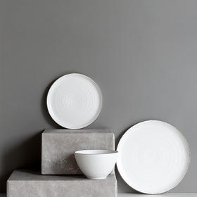 2件5折  纳谷 | Zero 白色磨砂亮釉餐具