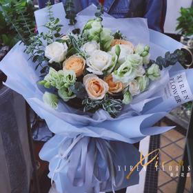 韩式混搭玫瑰花束