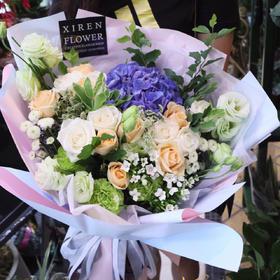 韩式绣球玫瑰花束