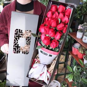 红玫瑰中国风礼盒