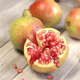会理青皮甜石榴5斤大果(约7-10个) 果形饱满 色泽自然  产地直发 看得见的天然 品尝得到的香甜 坏果包赔