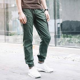 【3D剪裁瞬间有型】九分束脚潮流微弹工装裤