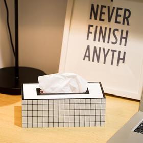 纳谷 | Domain系列黑白格纹纸巾盒