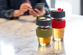 丹麦PO魔力杯 玻璃茶水分离泡茶杯创意便携车载随身杯办公家用杯子