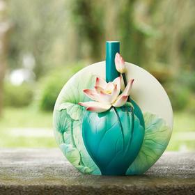 FRANZ/法蓝瓷 花好月圆 荷花 瓷瓶