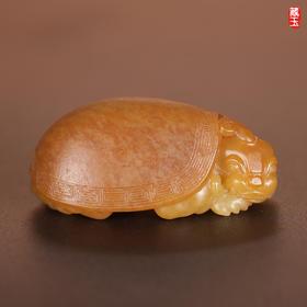 龙龟,挂件,新疆和田黄沁籽料