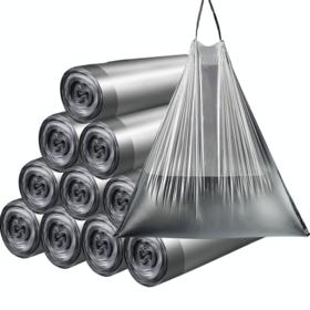 【创意生活】家用断点式自动收口垃圾袋 加厚塑料 手提抽绳