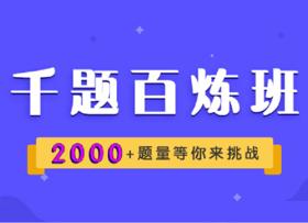 千题百炼班(2000+题量等你来挑战)