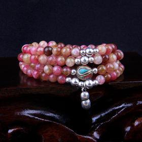特价款NMZ-80193彩色花斑石多层串珠旺夫手链