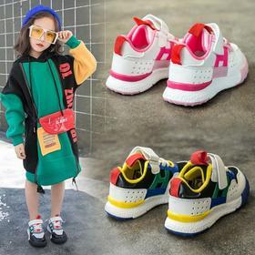 【寒冰紫雨】 儿童鞋男童运动鞋女童鞋子小孩百搭新款春秋宝宝鞋1-5岁童鞋3 粉色(透气软底)   AAA5754