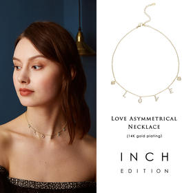 INCH EDITION LOVE系列爱心字母钻石颈链项链