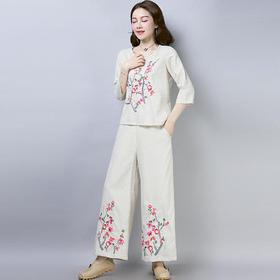 GN3695E中国风复古绣花套装
