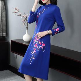 JS52807中国风刺绣改良连衣裙
