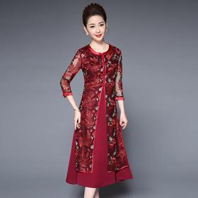 TZF-J8002CL高端气质刺绣连衣裙