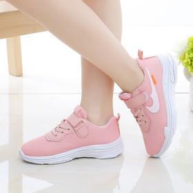 【寒冰紫雨】   春秋款女童鞋子春秋新款 潮韩版小白鞋儿童网鞋 小学生透气网面运动鞋跑步鞋    AAA5765